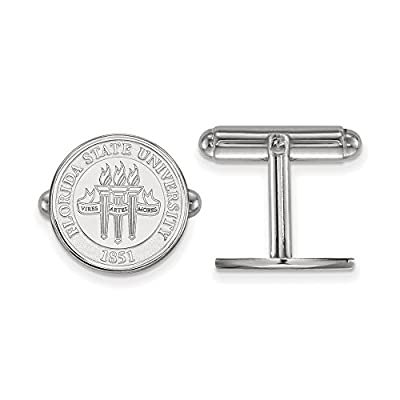 Florida State Crest Cuff Links (Sterling Silver)