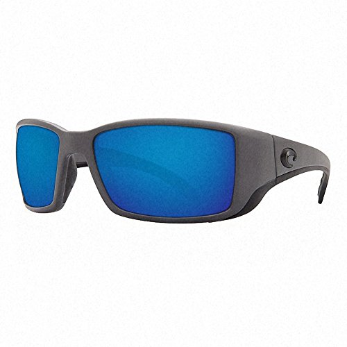 Costa Del Mar Blackfin Sunglasses Matte Gray/Blue Mirror - Costa Blackfin
