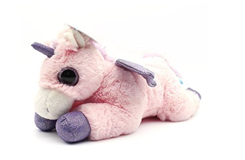 WILDREAM Pink Unicorn Sparkle Big Eyes 11, Unicorn Plush Toy with Wings