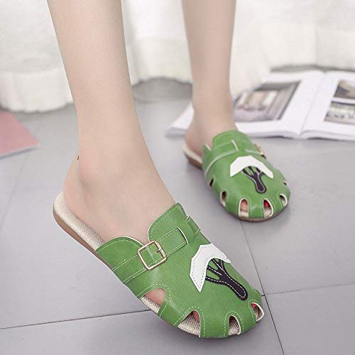 Baotou Beach Fashion Wear Beach Summer HBDLH Shoes da Scarpe Shoes Wild green donna xRvpAPaqw0
