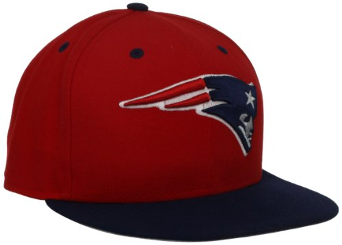 (NFL New England Patriots Two Tone 59Fifty Fitted Cap, Red/Blue, 7 1/8)