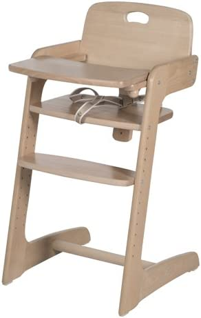 Roba Kids 7545 Evolutionary High Chair in Solid Wood, Natural Wood Finish