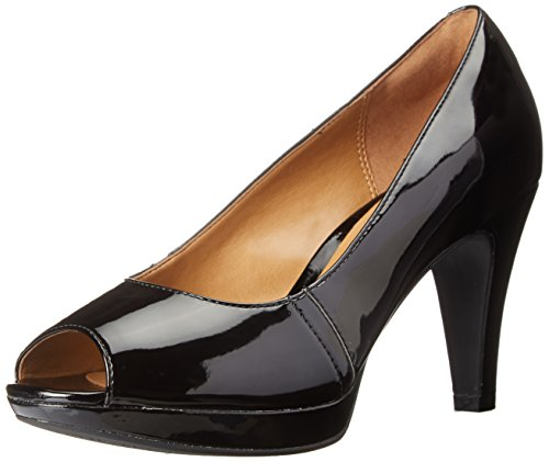 Clarks Women's Narine Rowe Platform Pump, Black Synthetic Patent, 7.5 M US 26108815