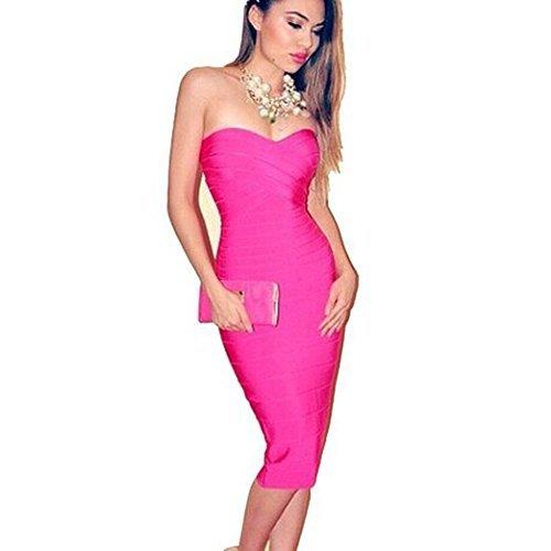 Cocktailkleid rosa schulterfrei