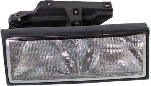 OE Replacement Cadillac Deville/Fleetwood Passenger Side Headlight Assembly Composite (Partslink Number GM2503194)