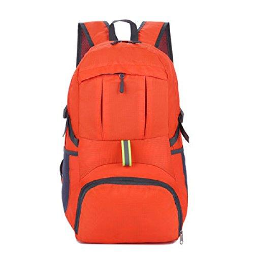 Shuang Yu Zuo Im Freien Schultern Ultra-light Rucksack,Blue Orange