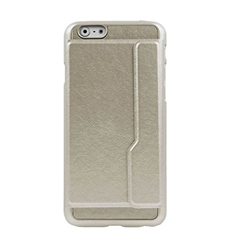 TOOPOOT(TM) Luxury Cards Flip Wallet Stand Case Cover For iphone 6 4.7 Inch (Gold)