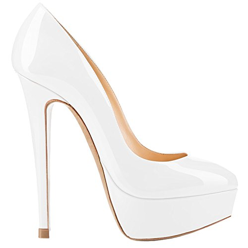 Weiß Lackleder AOOAR AOOAR Mujer Plataforma Weiß Plataforma Mujer Mujer Lackleder Plataforma AOOAR 5RYxRUqgw
