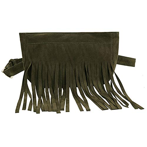Waist Green Clearance Women's Women Bag Messenger Handbag Chest Hobo Bags Black Iuhan Fringe Women Suede Bag Tassel Messenger Hippie Tassels Bag q11aR