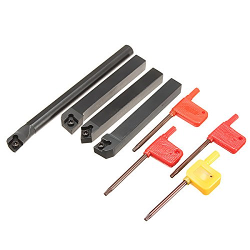 ZOYOSI 4pcs 12mm SCLCR1212H09 SCLCL1212H09 CN1212H09 S12M-SCLCR09 Lathe Turning Tool Holder for CCMT Ins