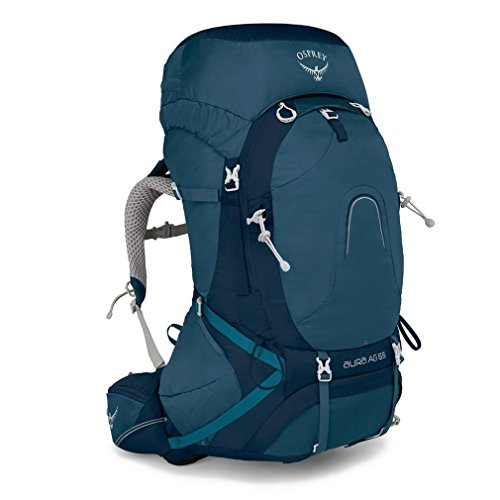Osprey Packs Pack Aura Ag 65 Backpack, Challenge Blue, Medium