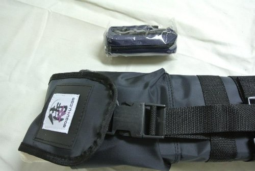 Bogu4u= One Deluxe Travel Kendo Shinai bag and One Belt Pockets (2 Colors Available) for Tournament (Including One Free Double-Knit Tenugui) by Bogu4u