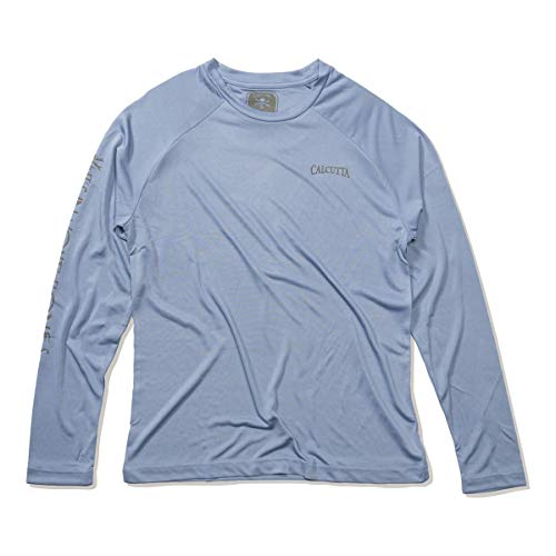 - Calcutta Performance Poly T-Shirt L/S Slate Blue, Large