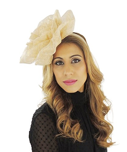 Hats By Cressida Wedding Kentucky Derby Ascot Fascinator Hat Pale Gold by Hats By Cressida