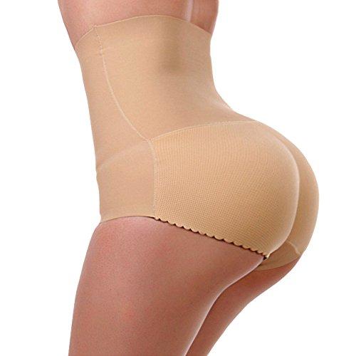 [Lelinta Women High Waist Tummy Shapewear Butt Lifter Control Panty Padded Panties,Nude,XL(Fit For] (Padded Underwear)