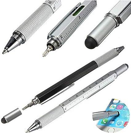 Bolígrafo 5 en 1 con lápiz capacitivo y regla de nivel de burbuja ...