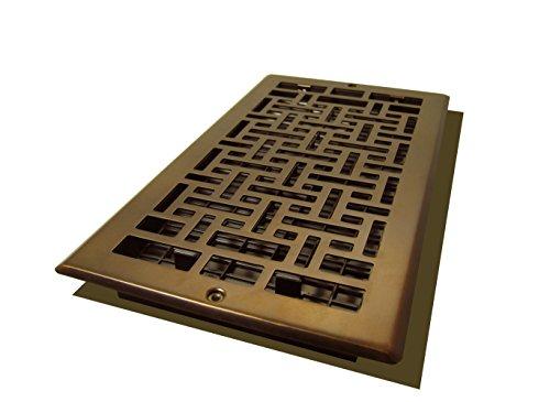 Decor Grates AJL612W-RB Oriental Wall Register, 6-Inch by 12-Inch, Rubbed (Bronze Oriental Register)