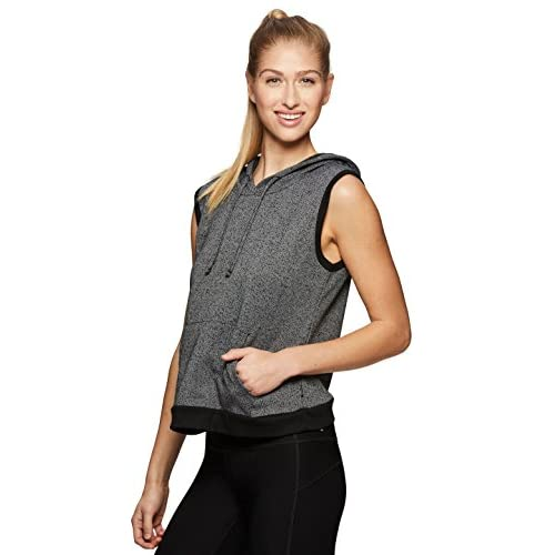 895bdc6728f RBX Active Women's French Terry Workout Sleeveless Hoodie ...