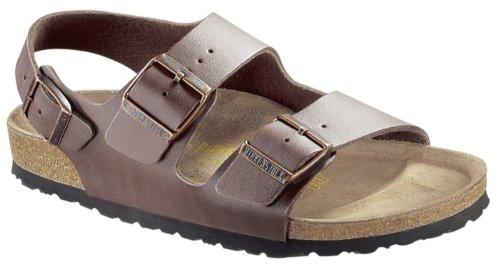 BIRKENSTOCK Milano Womens Dark brown Leather Sandals 36 EU (5-5.5 R US Women) by Birkenstock