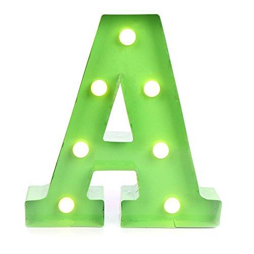 Green Light Letter (Hot Sales GL06 Hanging 3V Vintage Metal Green Led Letter Light (A))