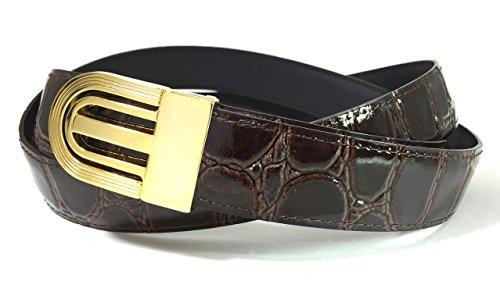 EDNA Bonded Leather Crocodile Print
