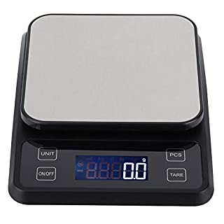 Kitchen Scale Multifunction Digital Food Scale, Electronic Kitchen Scale, 5kg Capacity Ultra Slim Stainless Steel with Large LCD Display Tare Function