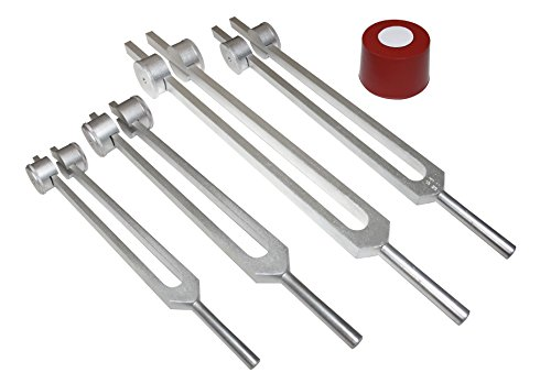 Radical 4pc set-3 Otto Tuners +1 Ohm Weighted Tuning fork Spine Nerves Tissues Bones Hips (Body Tuners)
