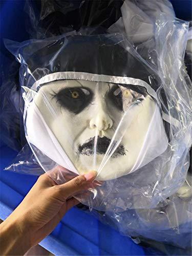 Amazon.com: VJUKUBWINE Halloween Decoration Horrified Nun Female Ghost Mask Costume Mask Cosplay Full Head Mask Latex Fire Wolf: Home & Kitchen