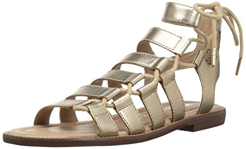 Designer Shoes Bridesmaid (206 Collective Women's Myrtle Gladiator Fashion Flat Sandal, Gold Leather, 7.5 B US)