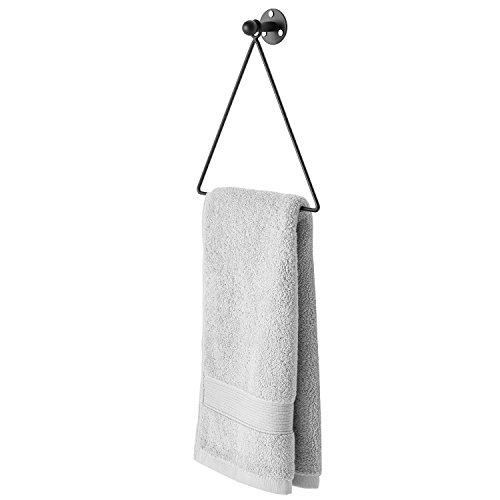 Modern Wall Mounted Triangle Metal Bathroom Kitchen Hand Towel Bar Rack, - Ring Bb Towel