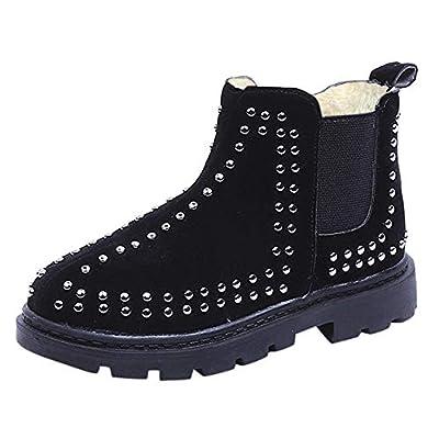 Tronet Winter Baby Shoes, Girls Autumn Winter Warm Zipper Casual Martin Boots Warm Double-Deck Non-Slip Snow Boots