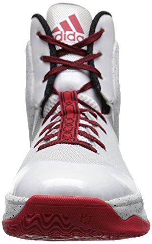 adidas Performance Men's D Rose 5 Boost Basketball Shoe White/Scarlet/Grey/Black sale new arrival u6iSL