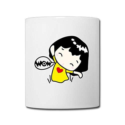 (FOOOKL Cartoon Character Girl 11oz Tea Cup Coffee Mug)
