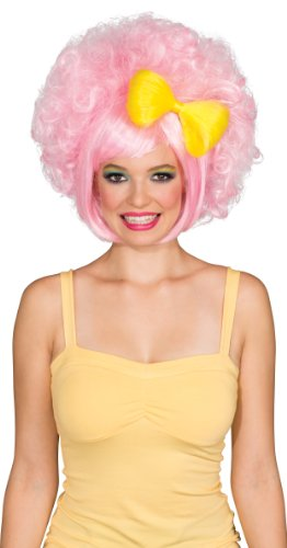 Rubie's Pastel Cutie Doll Wig With Bow, Pink/Yellow, One (Best Wig With Bows)