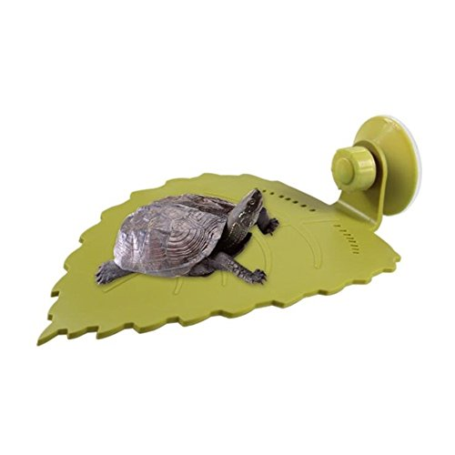 (Aquarium Reptile Tank Turtle Frogs Leaf Terrace Turtles Platform Sun Roof Decor Turtle Accessories Turtle Hammock Fish Plant Leaf Pad for Reptile Aquariums Flat Roof)