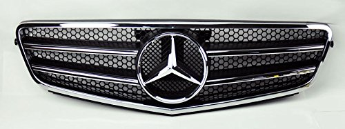 CPW (tm) Mercedes C Class W204 08-14 AMG Style Front Black & Chrome Hood Sport Grill