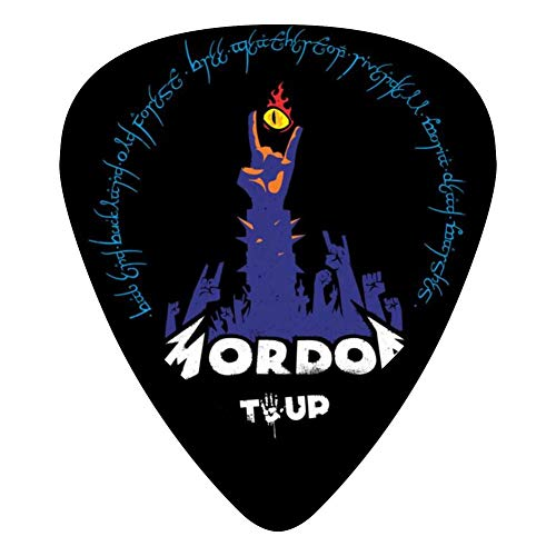 The Road To Mordor 351 Shape Medium Classic Celluloid Picks, 12-Pack, For Electric Guitar, Acoustic Guitar, Mandolin, And ()