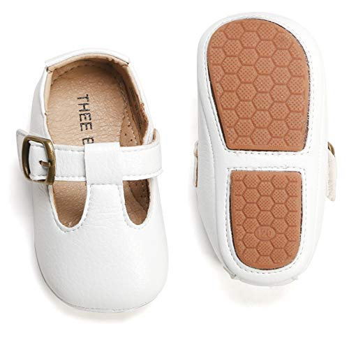 THEE BRON Infant Toddler Baby Soft Sole Leather Shoes for Girls Boys Walking Sneakers (12-18 Months-13cm, ()