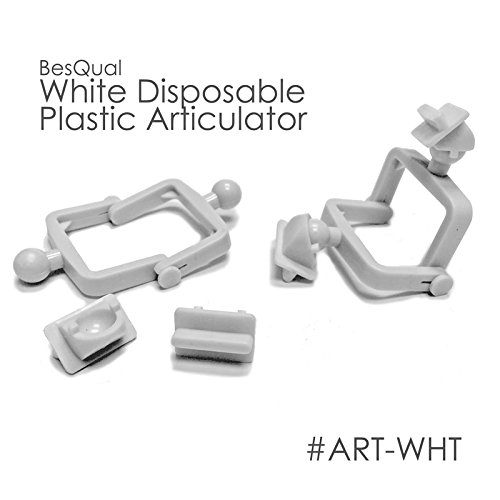 BesQual White Disposable Plastic Articulators (100 Set/Bag) 604-102