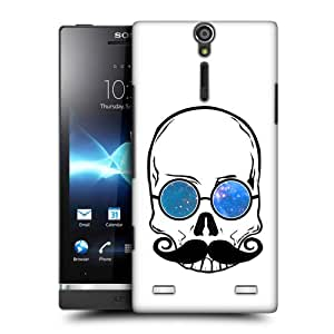 Head Case Designs Skull Hipsterism Protective Snap-on Hard Back Case Cover for Sony Xperia S LT26i
