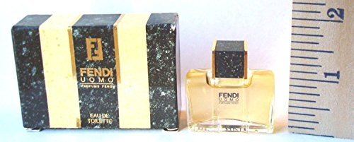 Fendi Uomo for Men 0.17 Oz Eau De Toilette Mini Collectible Miniature 0.17 Ounce Cologne Miniature