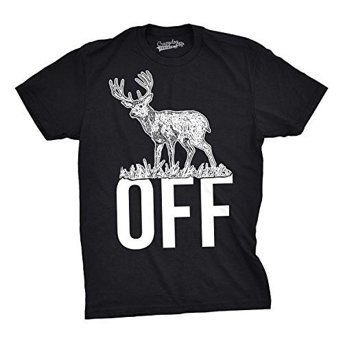 Mens Buck Off Funny T Shirts Hunting Deer Tee Hilarious Offensive Novelty T Shirt (Black) -4XL