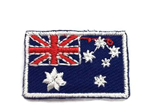 Australia World Countries Flags Iron On Patches 2x3 cm Backpack Size Embroidered Applique