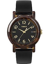 Timex Modern Originals Grande Classics T2P238AW Tortoise Sheel Case and Black Strap