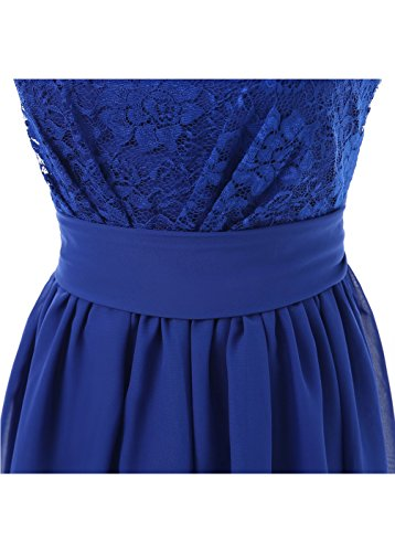 0865ad08c04 DYS Women s Short Bridesmaid Dress with Lace Prom Party Dresses Plum ...