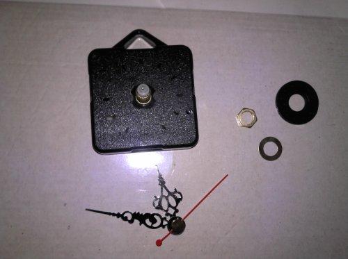 Ashleys workshop Quartz Clock Movement(Short Spindle) and hands set (Black, 50mm) by Ashleys workshop by Ashleys workshop
