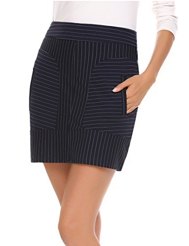 Patchwork Skirt Pattern (ANGVNS Women's Cotton Striped Patchwork Stretchy Mini Pencil Skirt)