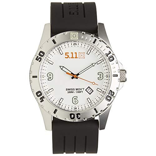 5.11 50133-010-1 SZ 5.11-50133-010-Sentinel Watch, Swiss 3 Hand Movement, 316L Stainless Steel Case-White-
