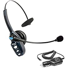 VXi BlueParrott B250-XT Bluetooth Headset with AC Power Supply - INCLUDES - MobileSpec 12V Replacement Car Charger