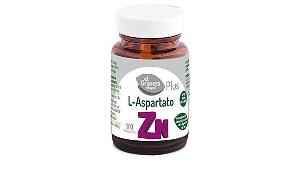 EL GRANERO L-ASPARTATO DE ZINC, 100 COMP. 360 mg: Amazon.es: Salud y cuidado personal